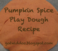 Got Kiddos?: Fall Fun: Pumpkin Spice Play Dough