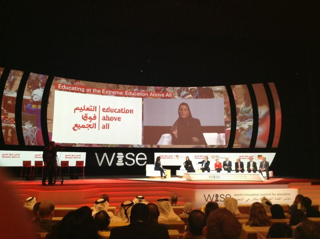 Twitter / zefred: #WISE13 #EducationAboveAll ...