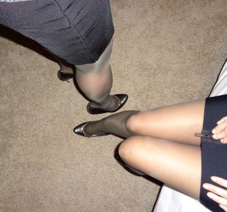 Husband wife pantyhose