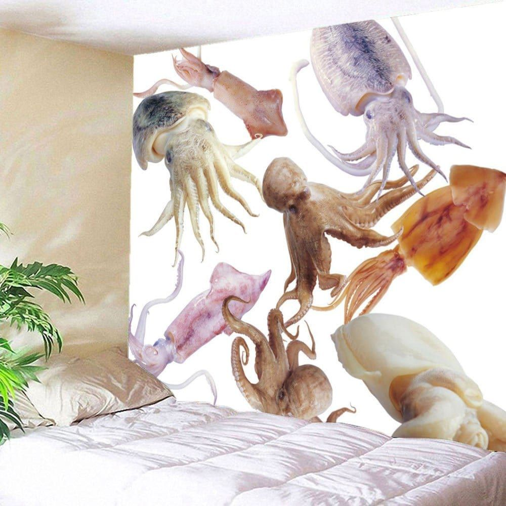 Home Decor Sea Animals Printed Tapestry