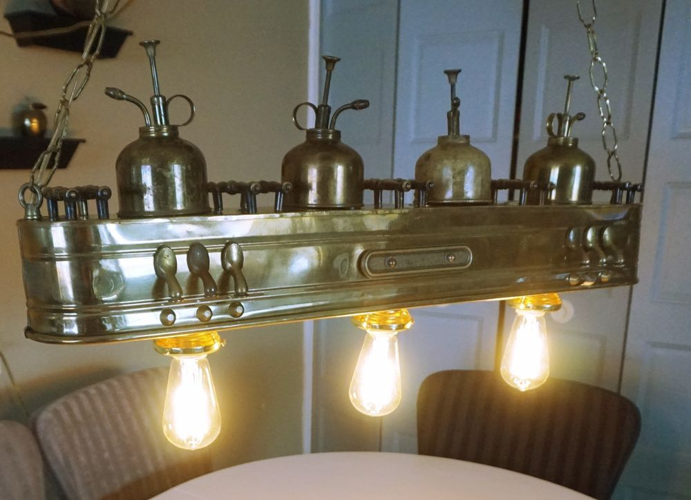 Vintage industrial ceiling lamps Machine Age Steampunk Collectible ...