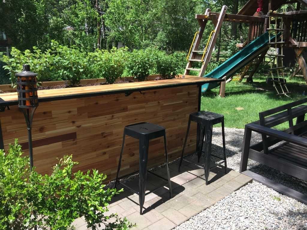 Reclaimed Wood Outdoor Bar Tall Planter Patio Plant A Bar 2 X8 Diy Outdoor Bar Patio Plants Outdoor Bar