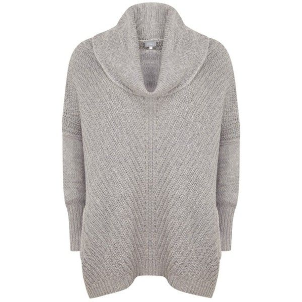 Hygge by Mint Velvet Chevron Ribbed Jumper, Silver Grey ($65) ❤ liked on Polyvore featuring tops, sweaters, ribbed top, chevron sweater, gray sweater, chevron top and chevron print tops