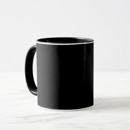 Black Coffee Mug Total Solid