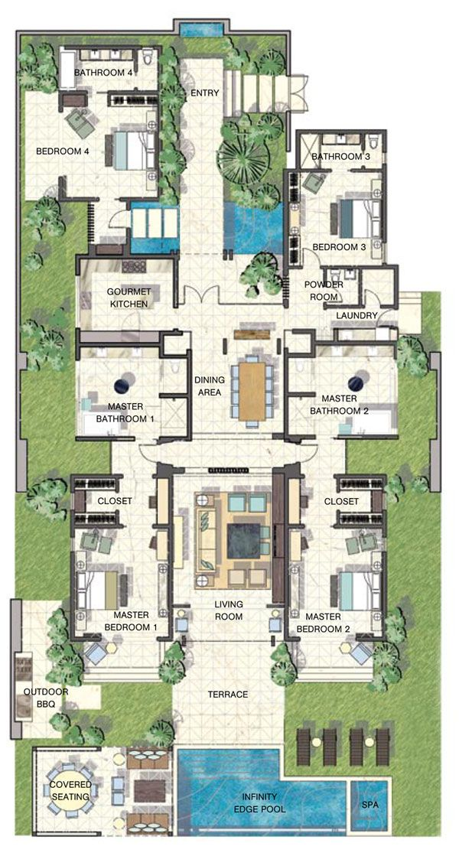 Caribbean Luxury Villas At Viceroy Anguilla House Plans Sims House Plans House Layout Plans