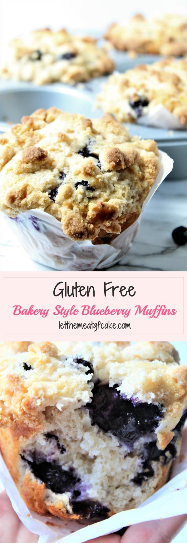Gluten Free Bakery Style Blueberry Muffins #glutenfreebreakfasts