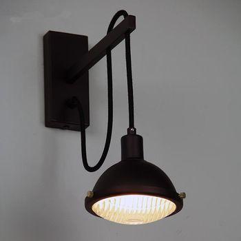 slaapkamer nachtkastje leeslamp loft gang american retro vintage ...