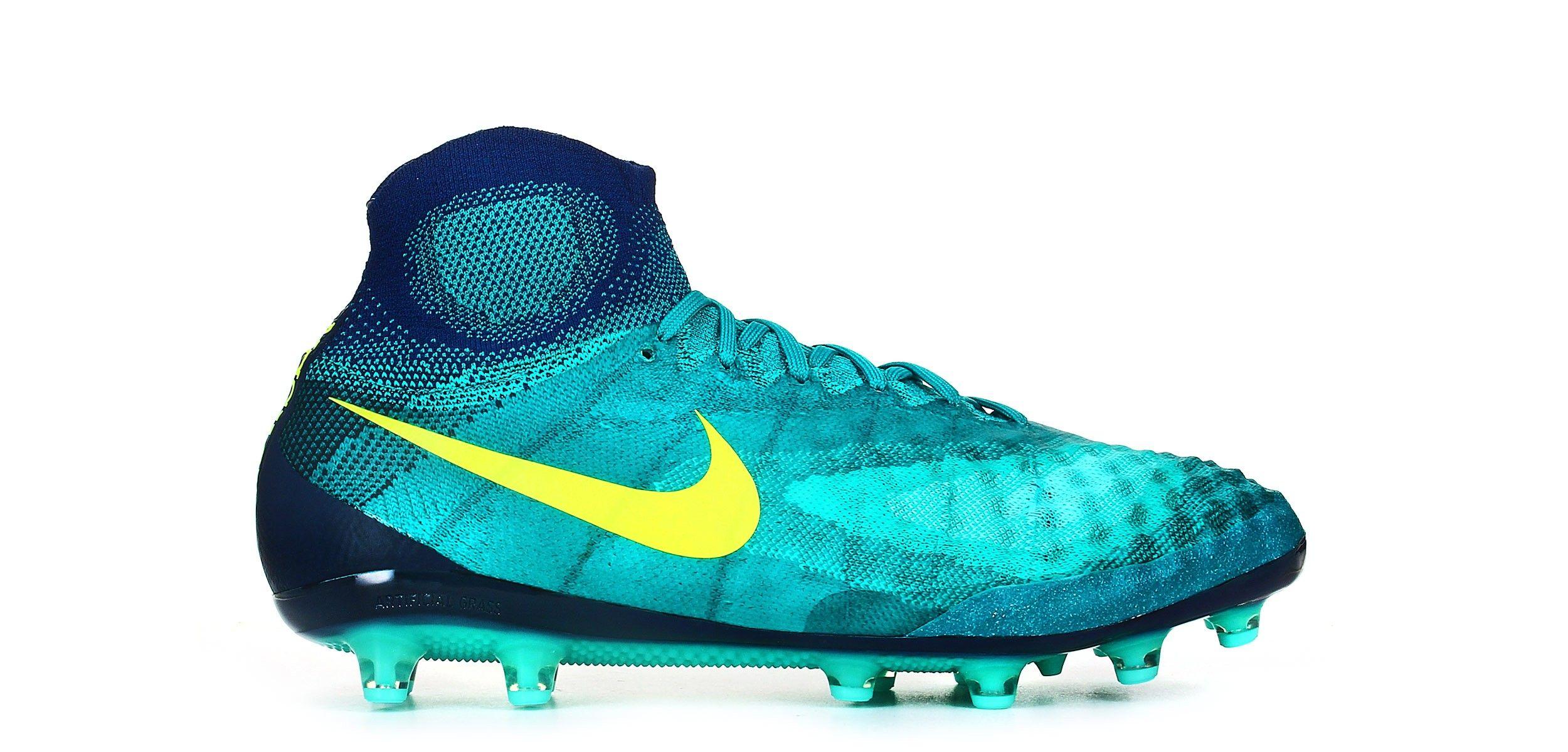 Botas de fútbol AG Nike Magista Obra II AG fútbol PRO Verde Azulado c3919a