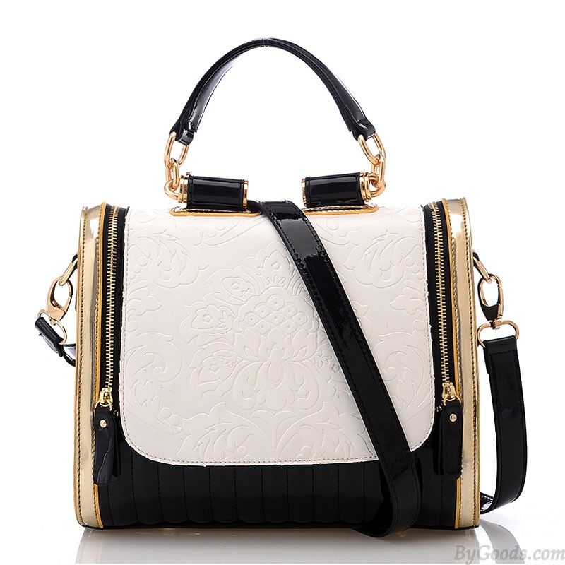 Elegant Retro-Kontrast-Farben-Rosen-Muster-Handtasche only $29.9 in ByGoods.com!