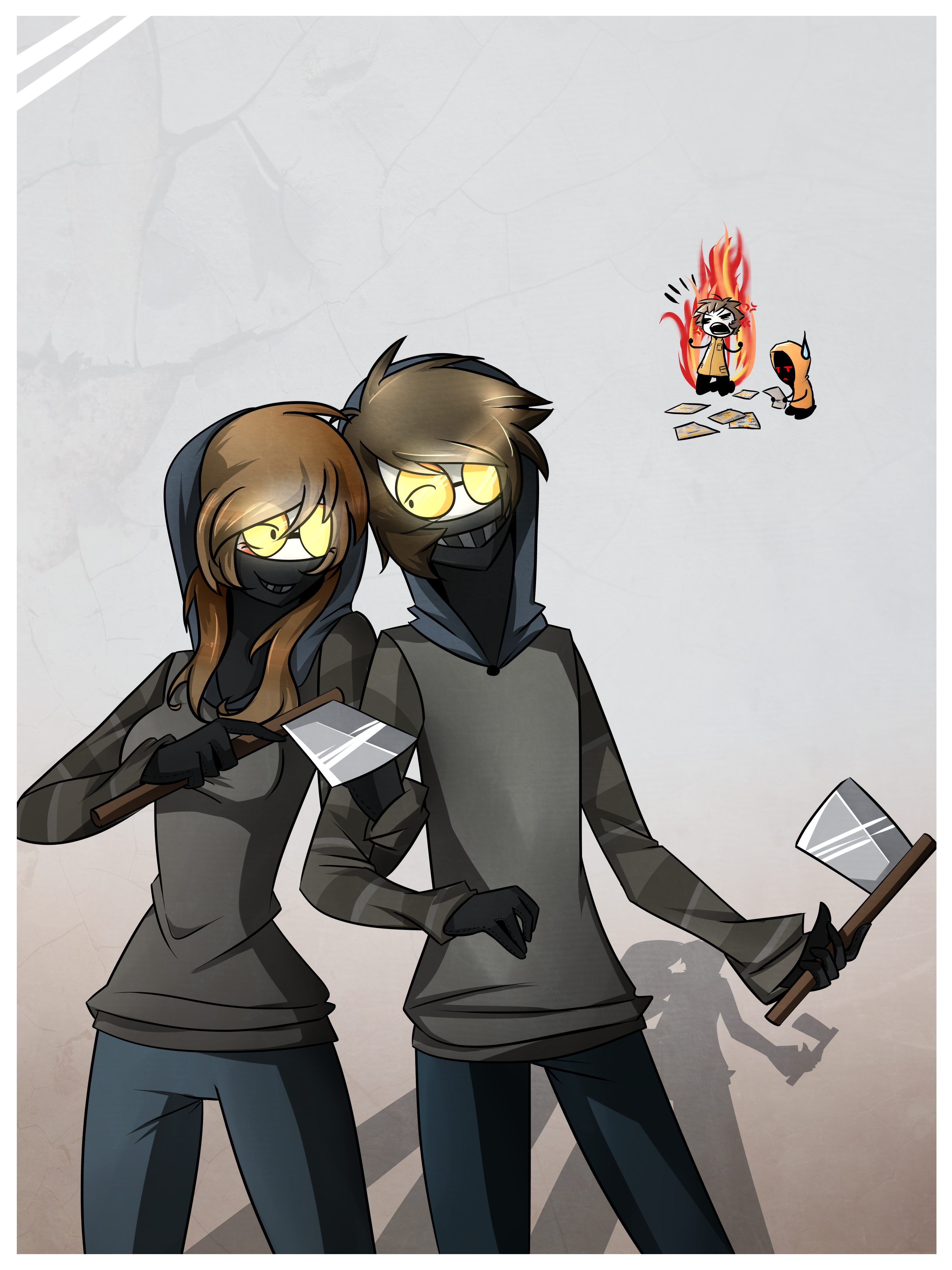Ticci Toby and Ticci Tina by 1Day4Dreams on DeviantArt