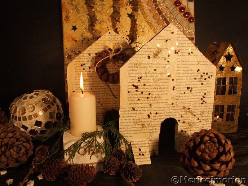 Herbstdeko in braun weihnachten mosaik weihnachten und deko - Beton weihnachtsdeko ...