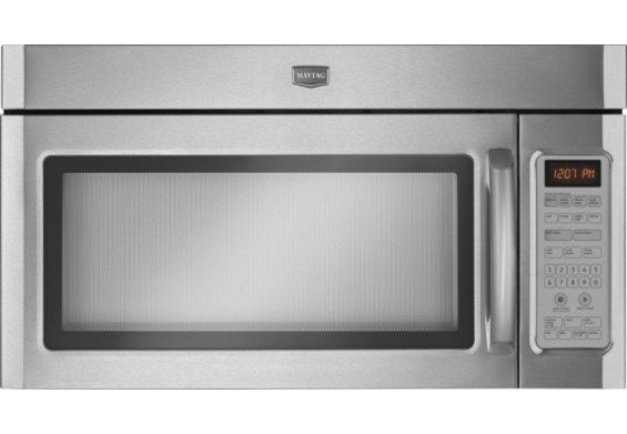 Thebrick Com 2 0 Cu Ft Maytag Microwave Range Hood Combination Stainless Steel Ymmv5208s Stainless Steel Microwave Microwave Range Hood Range Microwave