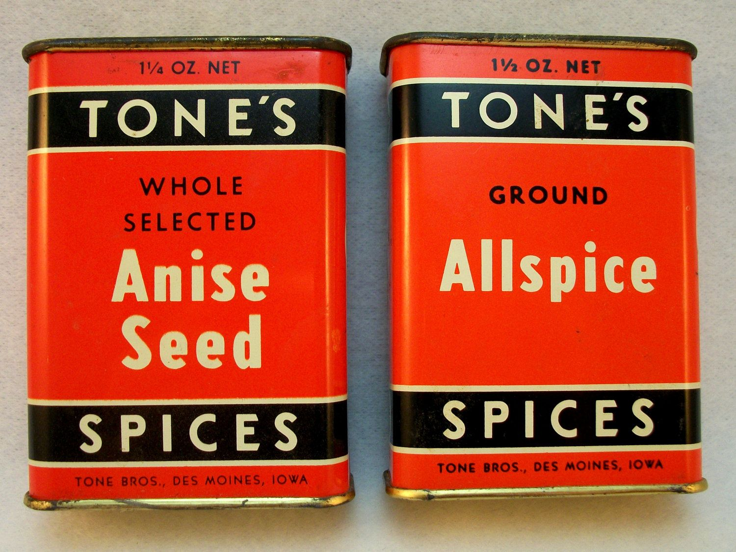 Vintage Tones Spice Tins Company Established In Iowa In 1873