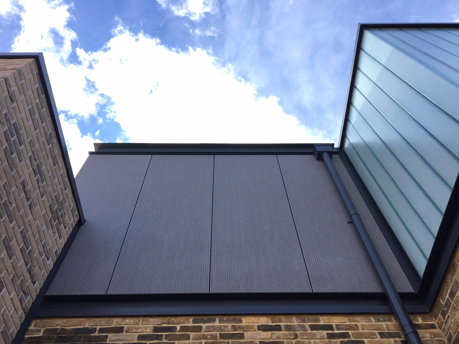 Vertec Roofing Cladding Marley Equitone Linea Brickslip Veterans Aid Limehouse Roof Cladding Cladding Roofing