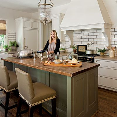 Amazing Kitchens For Every Style Stylish Kitchen Island Butcher Block Island Kitchen Green Kitchen Island
