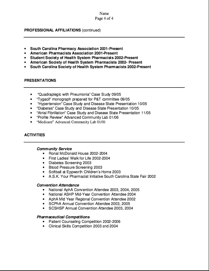 Pharmacist Cv Resume Objective Examples Resume Cv
