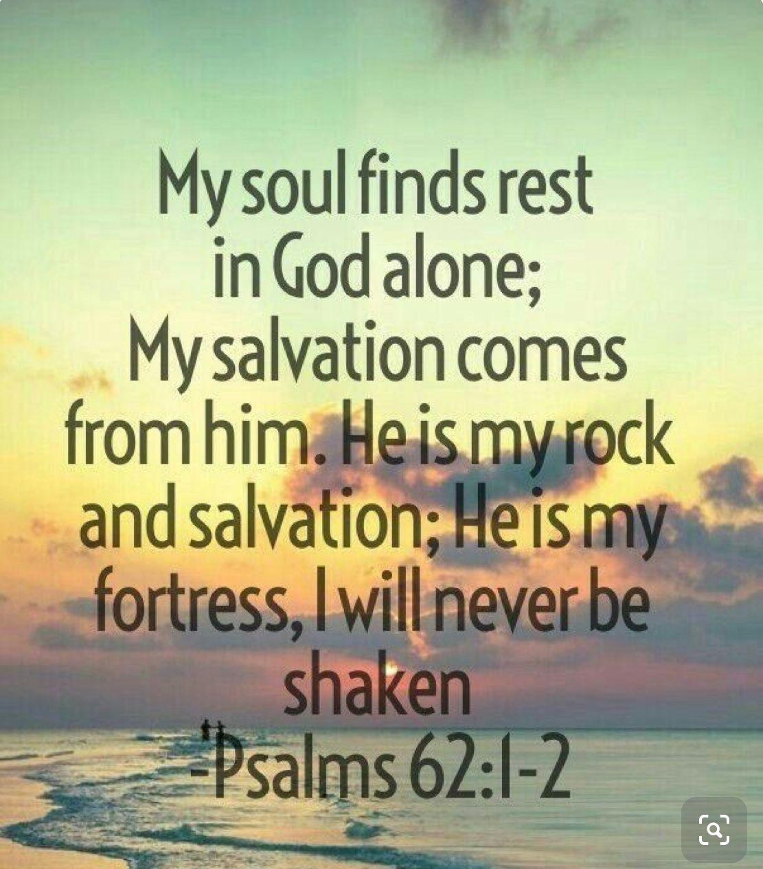 Psalm 62:1-2 | Bible verse | Healing scriptures, Favorite