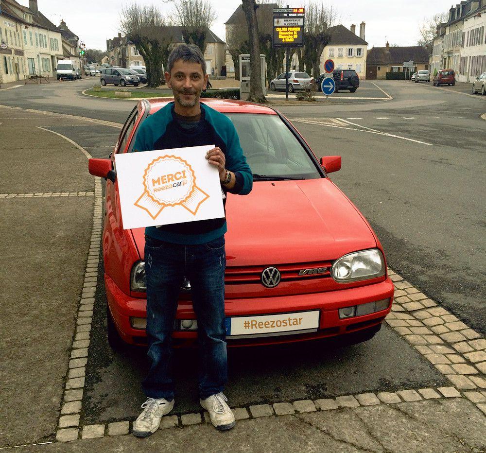 Volkswagen Golf #red #board #thanks #happy #reezostar #reezocar