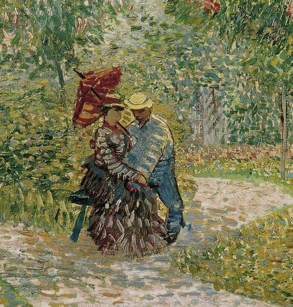 Vincent Van Gogh「Garden in Montmartre with Lovers」