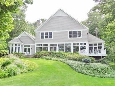 Beautiful Grand Haven Villa Rental   View Of Home From The Lake  Wall To Wall Windows