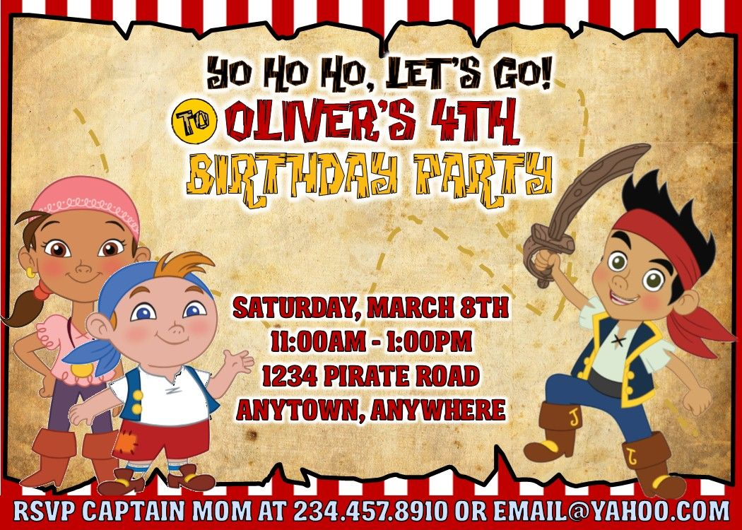 Throw the perfect Jake and the Neverland Pirates party with these ...