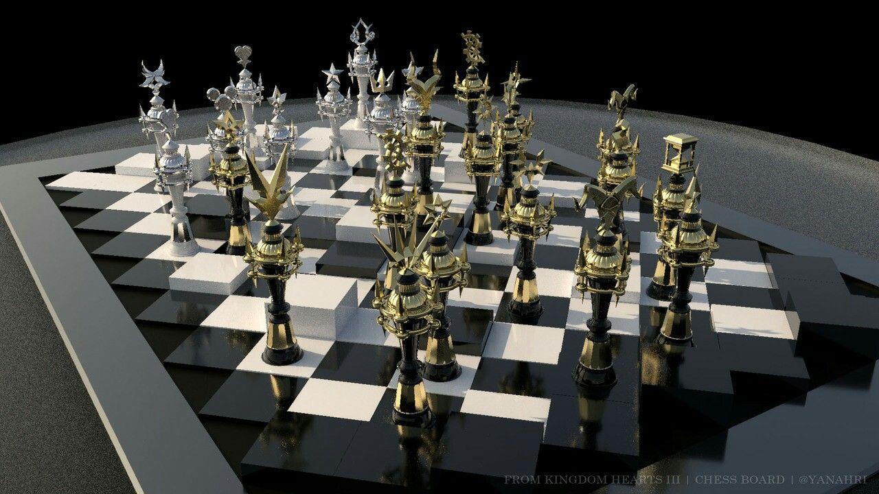 Kingdom Hearts Iii Chess Board Yay I Finally Have Finished