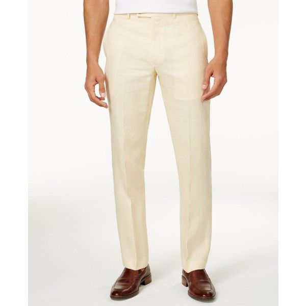 1b6ca779ba Lauren Ralph Lauren Solid Linen Dress Pants ( 41) ❤ liked on Polyvore  featuring men s