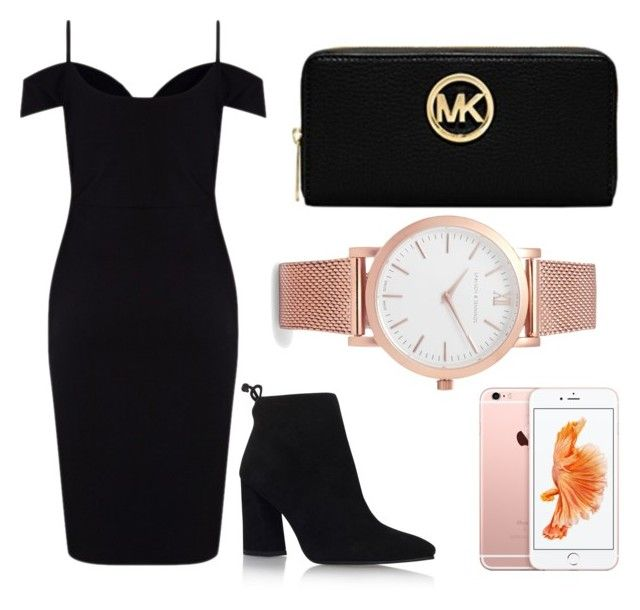 """""""Untitled #5"""" by emilyharwoodx on Polyvore featuring Lipsy, Michael Kors, Larsson & Jennings and Stuart Weitzman"""
