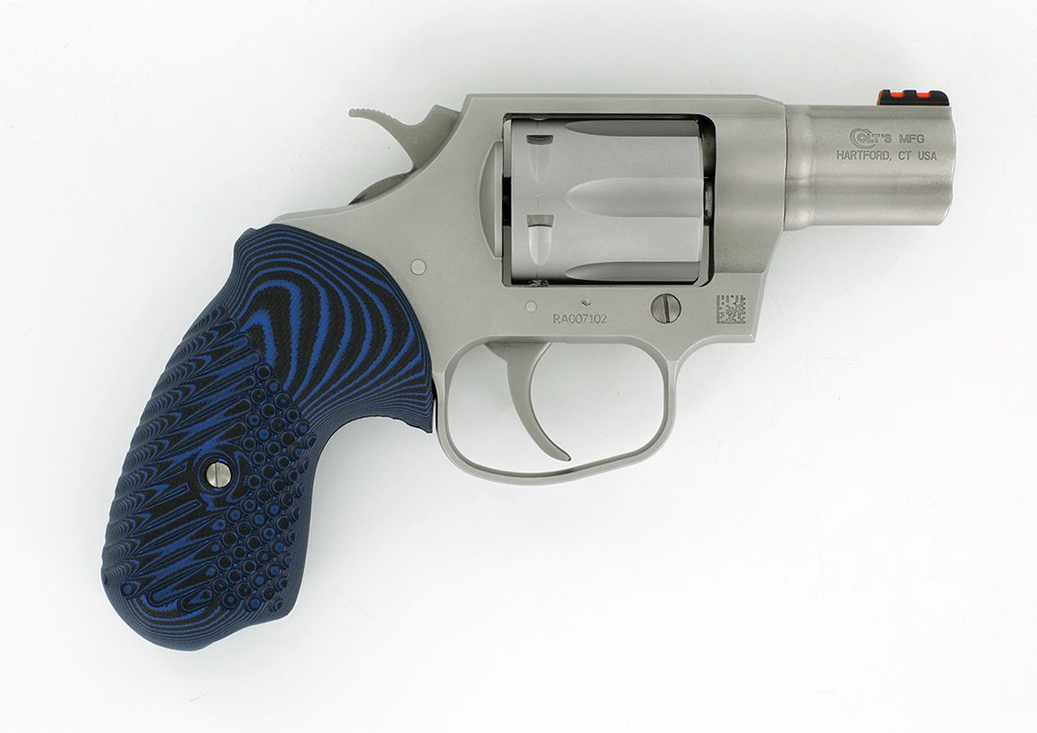 The VZ Grips Colt Cobra Cyclone grip made from G10 in Blue Black ...