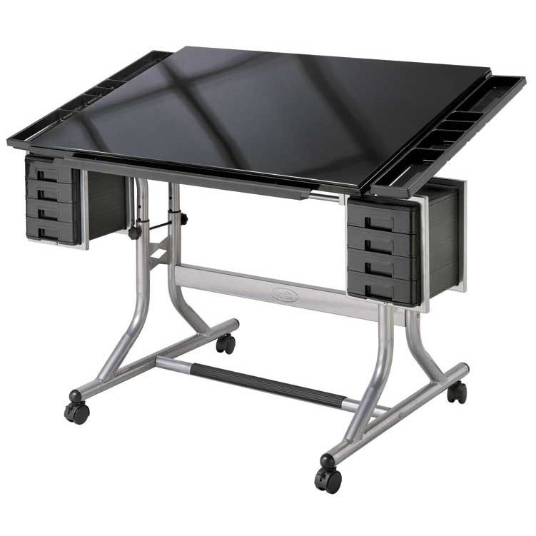 Alvin Craftmaster Ii Glass Top Craft And Drawing Table Cm48gl Drawing Table Glass Top Table Drawing Desk