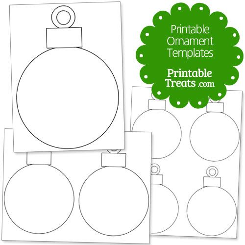Printable Ornament Templates from PrintableTreats.| Christmas