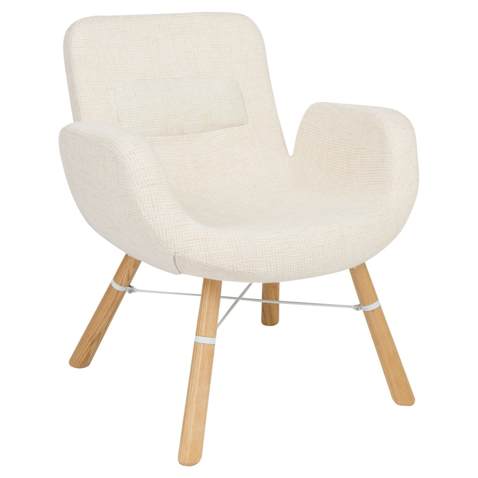 LeisureMod Milwood Ergonomic Accent Lounge Chair Gray