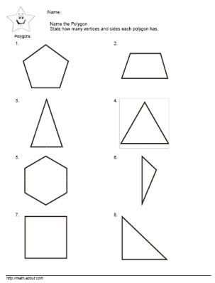 Printables First Grade Sides And Angles Worksheet polygon worksheets 2nd grade versaldobip geometry davezan name the shapes worksheet kids