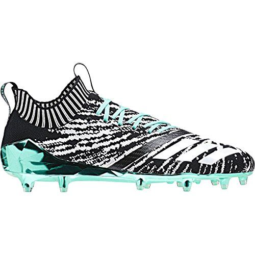 another chance f7ba1 68529 adidas adizero 5-Star 7.0 X Primeknit Football Cleats (9, Black White Hire  Green)