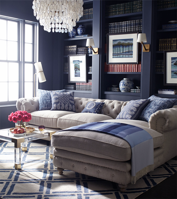 Can You Believe It S Horchow Blue Living Room Interior Living Room Designs #navy #blue #decorations #for #living #room