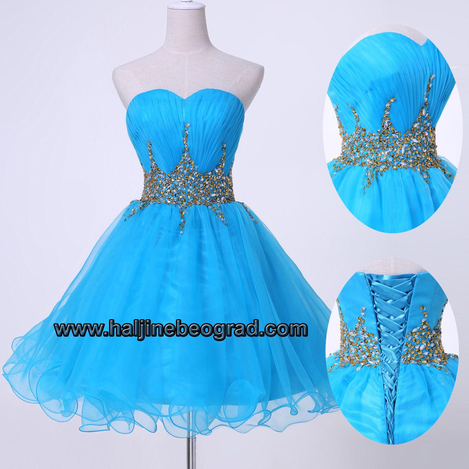 Plava kratka haljina za mature | Maturske 2014 | Pinterest | Short ...