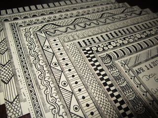 Drawing near: Rubber Stamp and Zentangle Mail Art