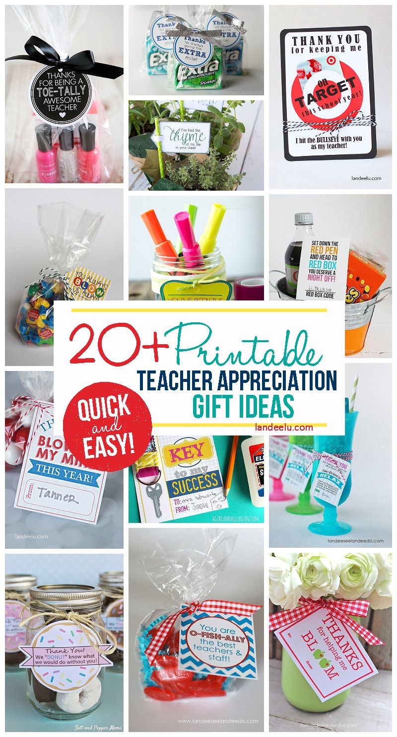 Classroom Gift Ideas ~ Teacher appreciation week gift ideas free