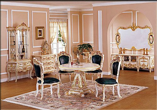 Baroque Home Decor house home homedecor decor design interiordesign Image Detail For Dining Room Design With Baroque Style Furniture Round Dining Table