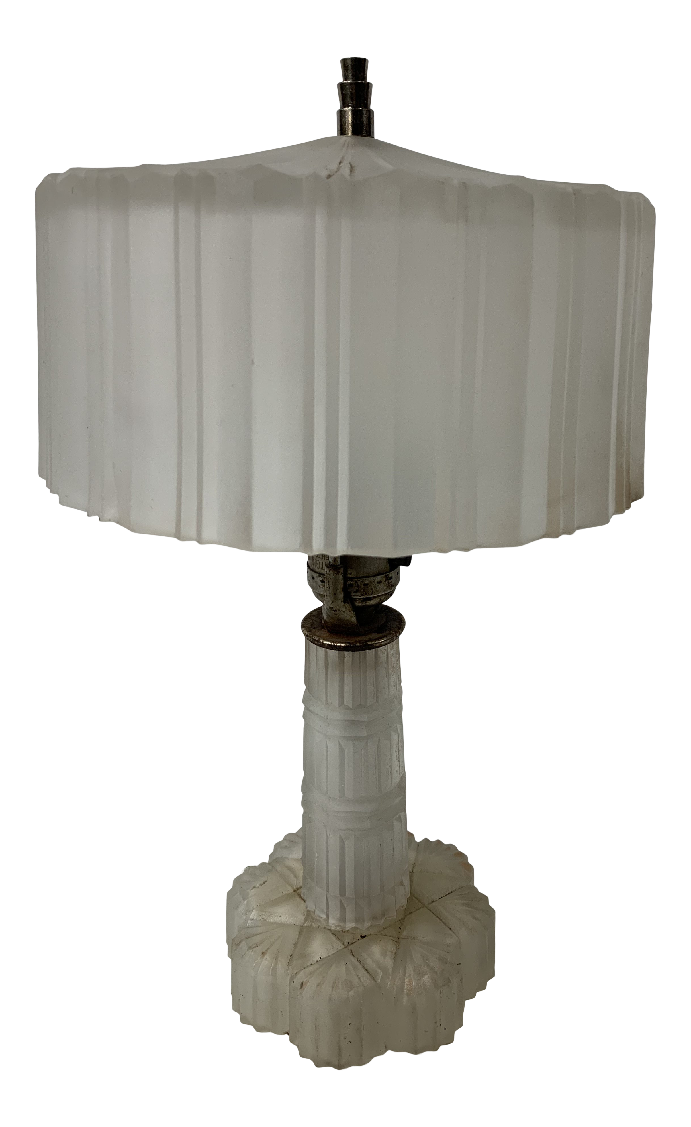 1930s Art Deco Frosted Boudoir Table Lamp On Chairish Com In 2020 Lamp Table Lamp Table Lamp Lighting