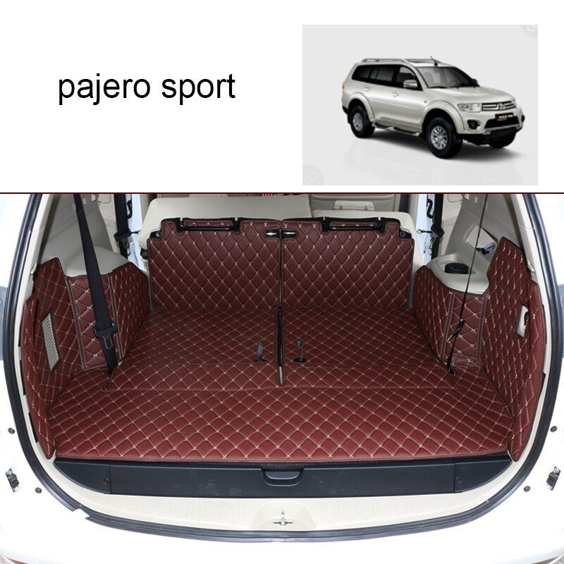 Lsrtw2017 Leather Car Trunk Mat Cargo Liner for Mitsubishi