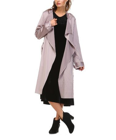 Look what I found on #zulily! Lavender Wing Satin Trenchcoat #zulilyfinds
