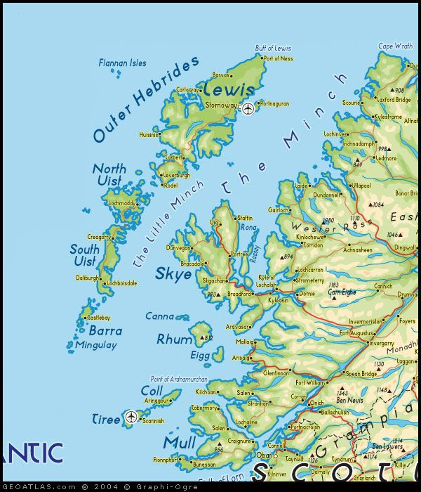 Outer Hebrides Map Map of Outer Hebrides (Western Isles map) via .map of uk.co.uk