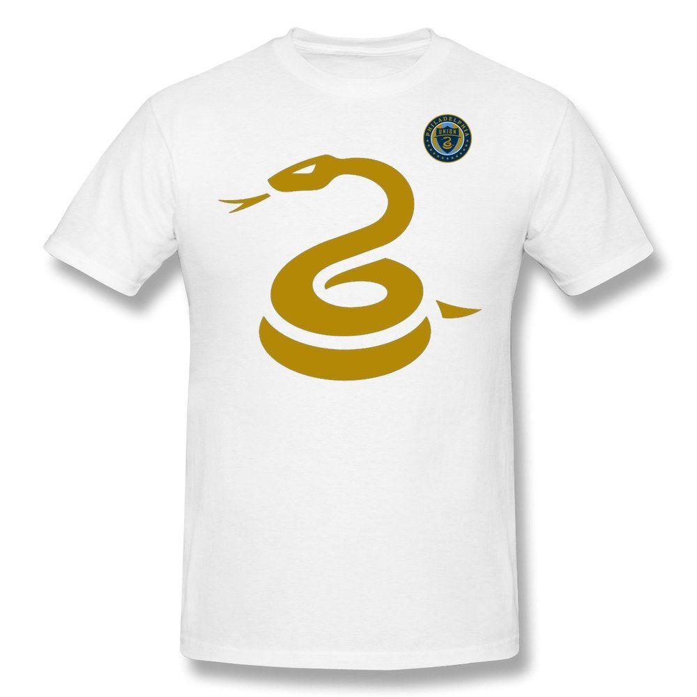 Amazon.com  RIen Men s Philadelphia Union Snake Logo T-Shirt - White   Clothing a7a7a9e1729