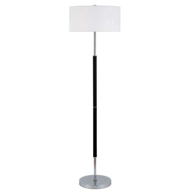 Evelyn Zoe Contemporary Metal 2 Bulb Floor Lamp Walmart Com Nickel Floor Lamp Floor Lamp Lamp Living room floor lamps walmart