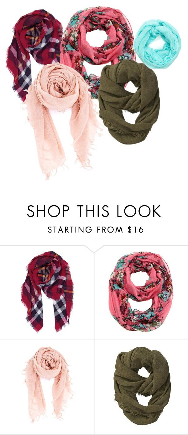 """""""Scarves"""" by bloomingpetunia ❤ liked on Polyvore featuring Humble Chic, Cozy by LuLu, Chan Luu and Athleta"""