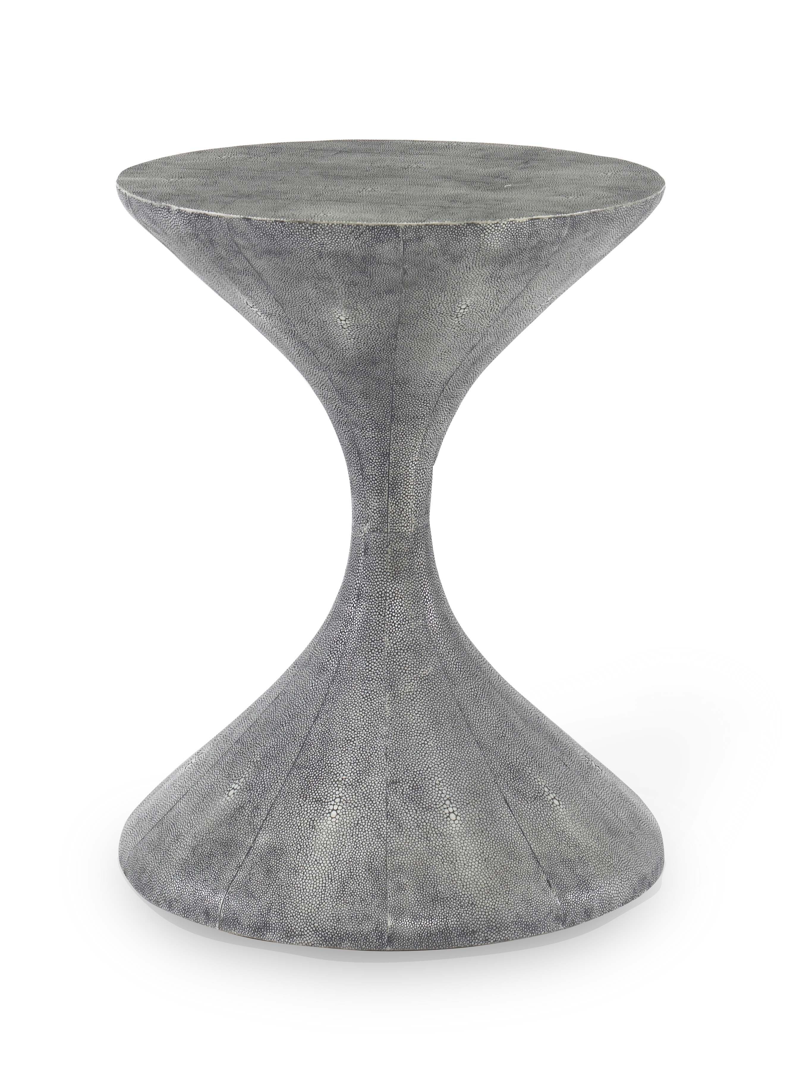 New for 2013! Lido Side Table in Storm Faux Shagreen  #NYIGF #LVDC #mrbrownhome #julianchichester