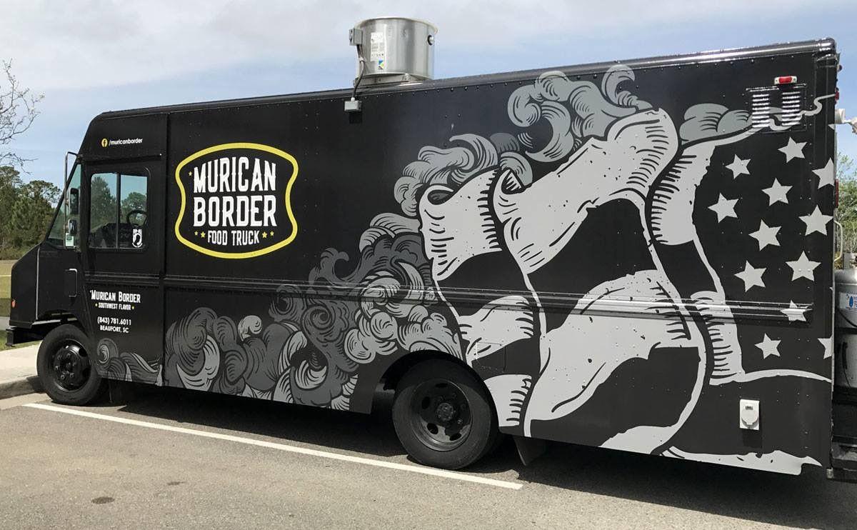 Murican Border Southwest Flavor Food Truck Vehicle Wrap