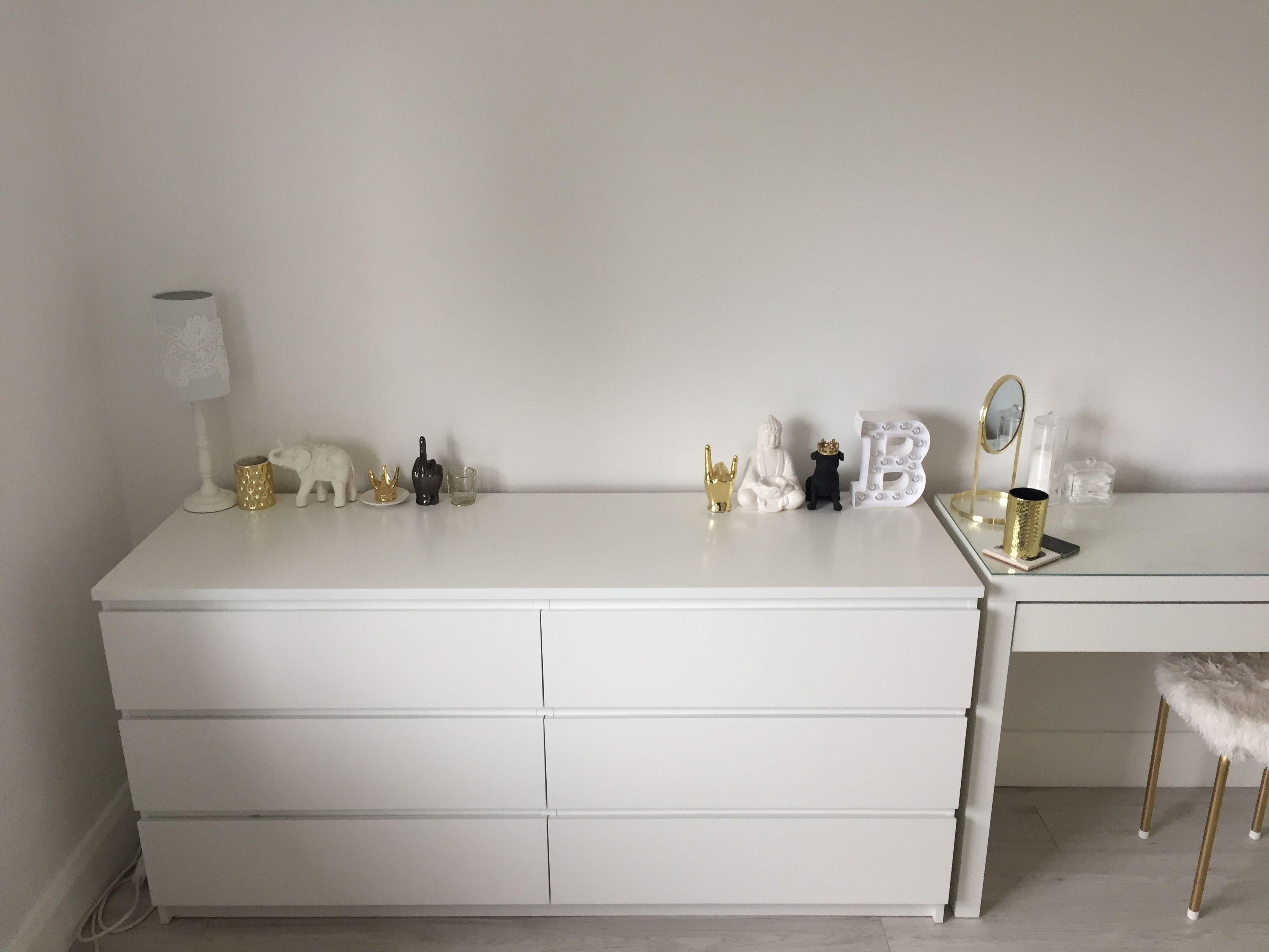 Ikea Malm Credenza : Ikea malm six drawers dresser and