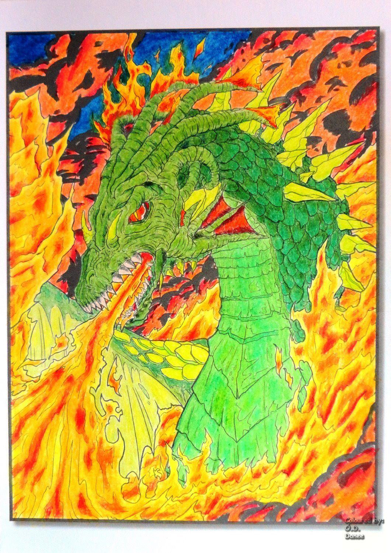 Jade Summer - Dragons Coloured with Prisamcolor Premier   Jade ...